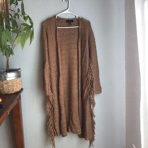Women's long open sweater